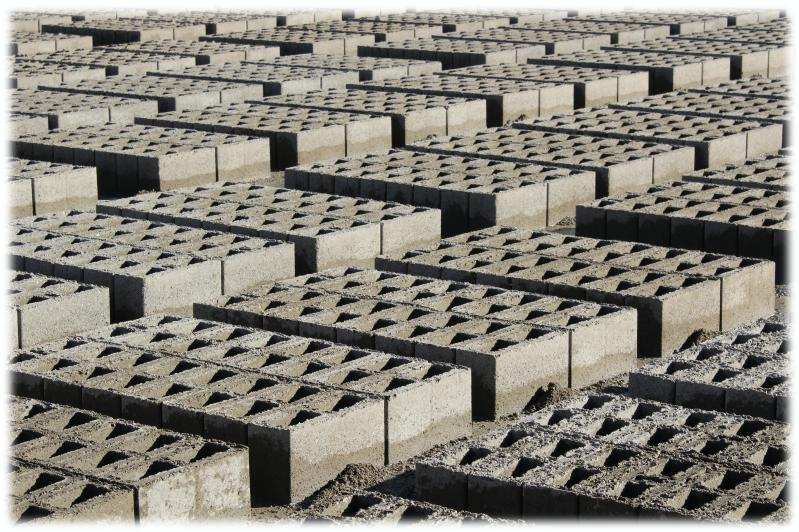 Climax Concrete Blocks Drying