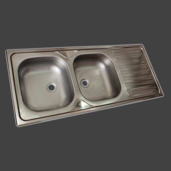 Climax Concrete Sink D 1160 x 500 Drop in with Waste SDI PLUM0113